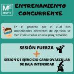 El entrenamiento concurrente y la pérdida de peso